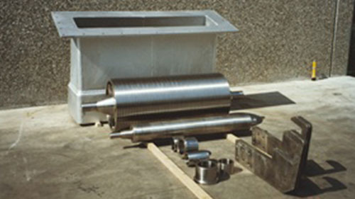 SINK STABILIZING ROLLS, BUSHING SLEEVES AND ARMS
